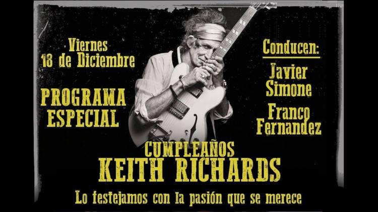 Escucha el especial CUMPLEAÑOS DE KEITH RICHARDS (Es solo Rarezas)